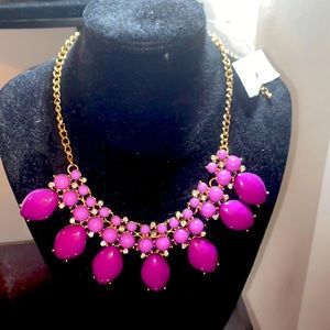 Purple necklace with gold chain